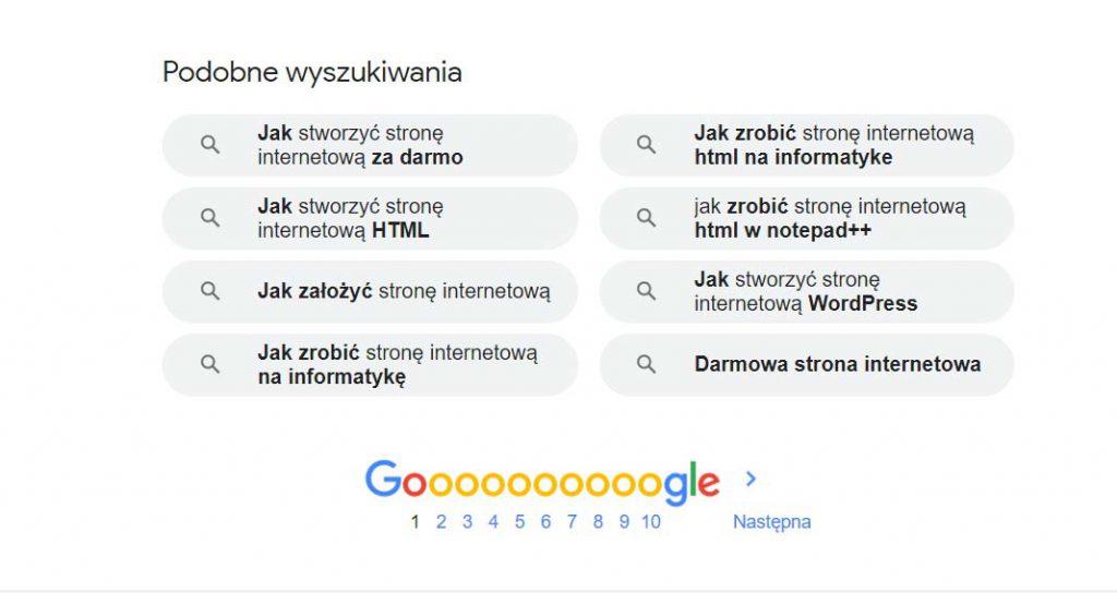podobne wyszukiwania - słowa kluczowe